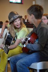 Kinderen maken muziek – School